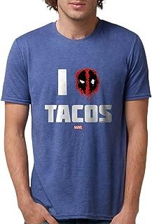 Deadpool Tacos Dark Mens Tri-blend T-Shirt