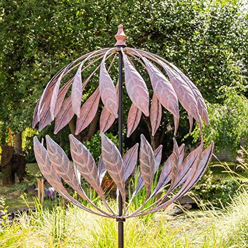 "Primrose Windrad / Windspiel ""Odell"" mit Bronze-Optik, Garten 264cm"