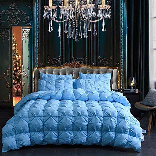 JKCTOPHOME Bettdecke Baumwolle Winter,Einfache Bettwäsche aus Warmer Baumwolle in Reiner Farbe für Herbst und Winter-A_200x230cm-3kg,Daunendecke