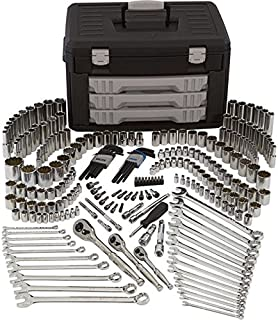 Klutch Mechanic's Tool Set - 245-Pc. 1/4in. 3/8in. and 1/2in. Drive