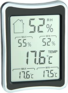 ETHMEAS Indoor Thermometer with Digital Hygrometer and Humidity Gauge for Indoor Office Wine Cellar Library