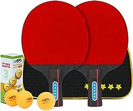 El Juego De Tenis De Mesa para 2 Jugadores De Performance Incluye Dos Raquetas Y Tres Pelotas De 3 Estrellas, Un Juego De Paletas De Ping Pong