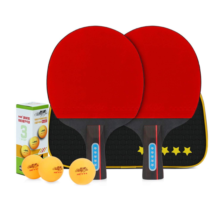 El Juego De Tenis De Mesa para 2 Jugadores De Performance Incluye Dos Raquetas Y Tres Pelotas De 3 Estrellas, Un Juego De Paletas De Ping Pong: Amazon.es: Hogar