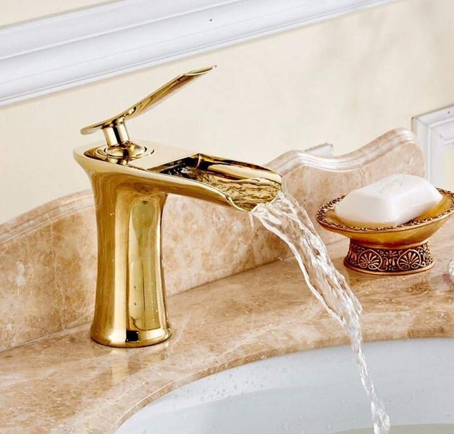 Mixer Basin Taps Bathroom Sink Taps Basin Taps Brass Cold Water Antique gold Bathroom Sink Mixer Tap