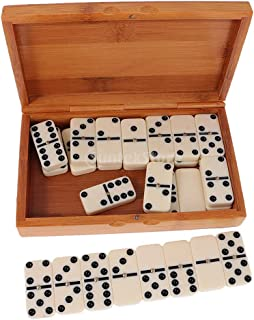 Chess Domino Bamboo Box or Cardboard Boxed Casual Game Dominoes Funny Toy