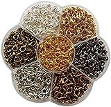 Chenkou Craft 1 caja alrededor de 560 piezas 7 colores Broche de langosta Fabricación de joyas Reparación 12x7mm