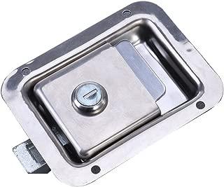WINOMO Travel Trailer Lock Stainless Steel Rv Door Latch Heavy Duty Flush Mount Handle Latch for Toolbox