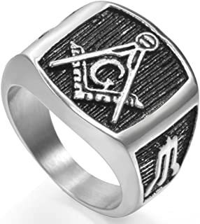 steel masonic rings