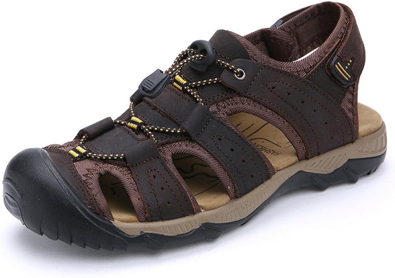 Baotou Men's Sandals Summer Sports Roman Men's Beach shoes Non-Slip Leather Sandals Large Size