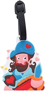 Pirate Luggage Tag School Bag ID holder for Kids Travel