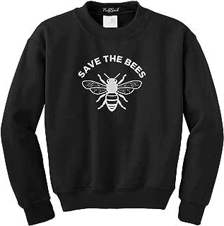 Save The Bees Crewneck Sweatshirt - Unisex Honey Bee Environment Crew