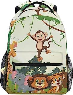 Mochila Escolar de Animales de la Selva para niños niñas niños Bolsa de Viaje Bookbag