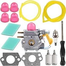 Kizut C1U-W18 530071822 Carburetor for Featherlite Weedeater FX265 TE475Y FL25C SST25 FL20 FL20C FL26 FX26S XT260 SST25C Craftsman Trimmer Parts Air Filter Carb Adjustment Tool Fuel Line Kit