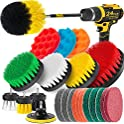 Holikme 24-Piece Drill Brushes, Scrub Pads & Sponges Attachments Set