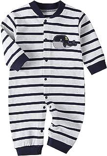 الرضع طفل رضيع شهم دعوى مخطط رومبير الملابس تتسابق الوليد الأزياء بذلة مجموعة (Color : Gray, Size : 12M)
