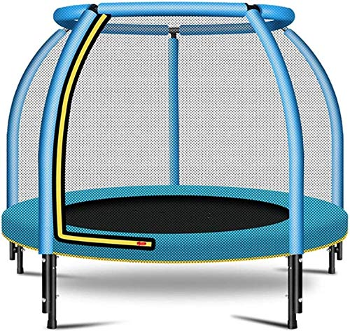 YAOJIA Indoor trampoline Trampoline With Safety Enclosure |Indoor Or Outdoor Fitness Trampolines For Kids-48'' Load-bearing 400 Pounds (Color : Blue)