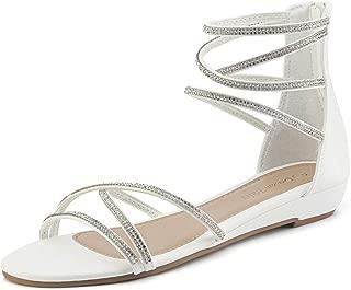 white sparkly flat sandals