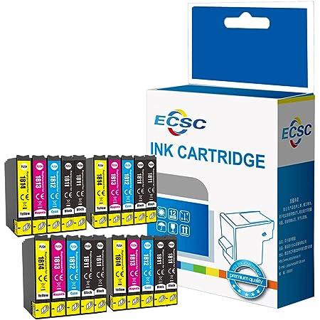 ECSC Compatibile Inchiostro Cartuccia Sostituzione Per Epson XP102 XP202 XP205 XP212 XP215 XP225 XP30 XP302 XP305 XP312 XP315 XP322 XP325 XP402 XP405 XP405WH XP412 XP415 (BK/C/M/Y, 20-Pack)
