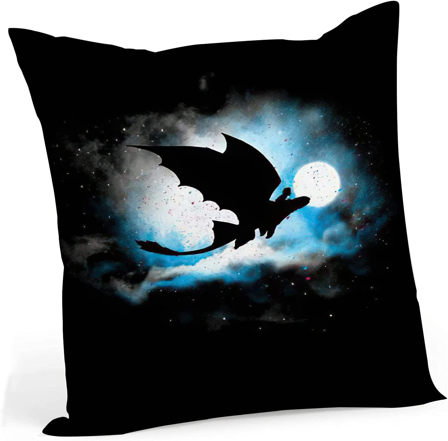 fucyBu Black Dragon Fly Moon Throw Inserts Pillow Cotton Fabric Very popular Cheap super special price