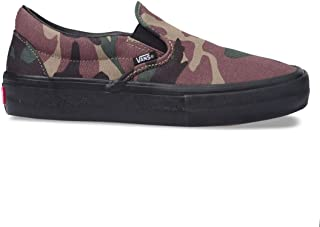 Slip-On Pro Sneakers (NV/STV/NV) Mens Classic Suede Skateboarding Shoes (7.5 M US, Camo/Black)