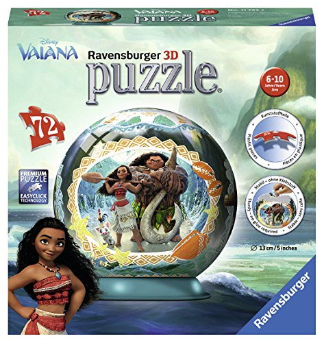 Ravensburger–Puzzle 3D Vaiana 72teilig, 11793