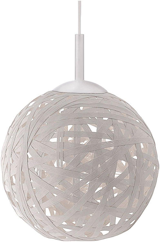 LeuchtenDirekt Pendelleuchte, Kunststoff, E27, 60 W, weiss, 50 x 50 x 120 cm