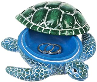 The Bridge Collection Resin Sea Turtle Trinket Box