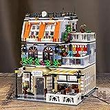 Rawikan GardonHotel - Juego de 1316 bloques de construcción modulares de ladrillo, gran centro comercial para mascotas (compatible con Lego)