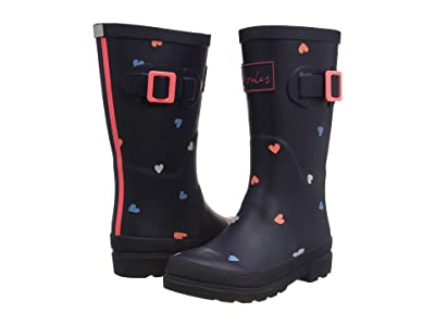 Joules Kids Welly Print (Toddler/Little Kid/Big Kid) (Navy Hearts) Girl