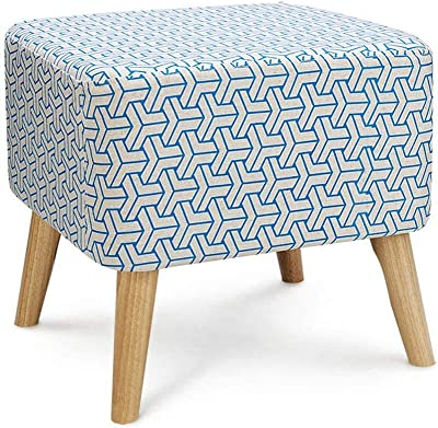 Folding Storage Ottoman Extra Padded Upholstered Sofa Stool, Square Change Shoes Stool Solid Wood Support Footstool Chair Removable Suede Fabric Cover Foot