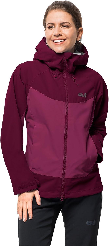 Jack Wolfskin Ladies North Ridge Women's Functional Jacket Hiking Jacket Breathable Waterproof Windproof Outdoor Rain Jacket Weatherproof Jacket, Womens, 1108492-2552004, amethyst, L
