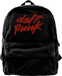 Mochila de lona con logotipo de Daft Punk para gimnasio, senderismo, portátil, bolsa de hombro para hombres y mujeres