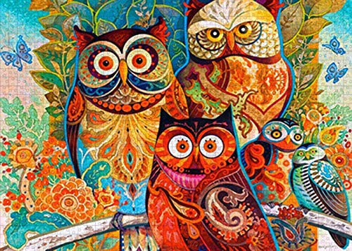 Puzzles for Adults 1000 Piece - Owl Puzzles - Wooden Puzzles for Adults - Puzzle Game - Education Game - Parent Child Game 75cmX50cm(29.5inX19.7in)