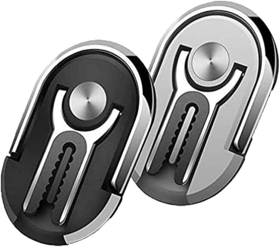 Minishop 2PCS Multipurpose Mobile Phone Bracket Holder 2 in 1 Universal Air Vent Car Phone Mount and Finger Grip Ring Kickstand 2 PCS Silver 360/°Rotation /& 90/°Flip