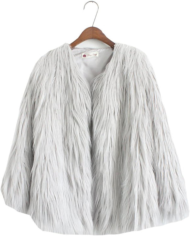 EORISH Women's Vintage Winter Warm Fluffy Faux Fur Coat Jacket Outwear