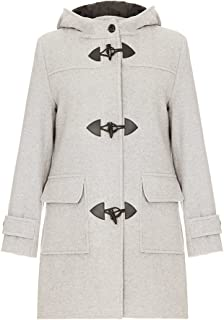 Women`s Wool & Cashmere Winter Hooded Duffle Coat