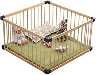 VGG Solid Wood Playpen with Soft Layer  Size 80 80 61cm