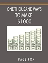 Best one thousand ways to make $1000 Reviews