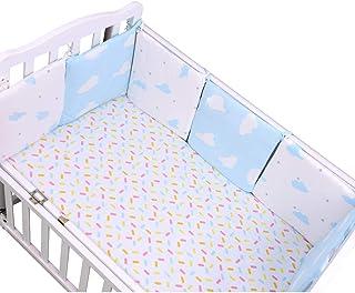 Yuena Care ベッドバンパー ベビー ベッドガード 赤ちゃん ミニ 組み合わせ 多機能 6枚セット ベッド ガード コットン クッション 出産お祝い かわいい