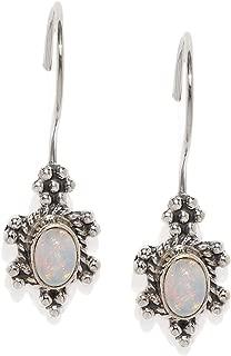 Jewel Cartel Ethnic Ethiopian Opal 925 Silver Danglers Earrings for Women and Girls Opal Gemstone