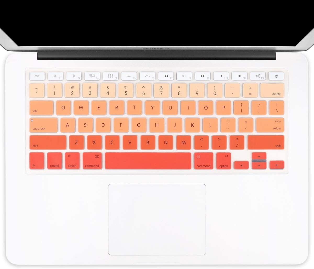 with or w//Out Retina Display Gradient Orange Batianda New Ombre Color Keyboard Cover Protector Silicone Skin for Old MacBook Air 13 MacBook Pro 13 15 17