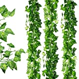 Awtlife Guirnalda de hojas artificiales de hiedra para colgar en bodas, fiestas, jardín, decoración de pared, 36 unidades