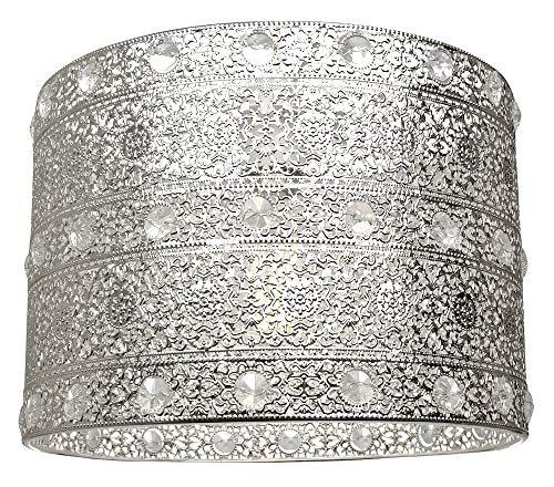 Antiker Silber Acryl Edelstein Marokkanischen Stil Kronleuchter Pendelleuchte Shade Fitting von Happy Homewares