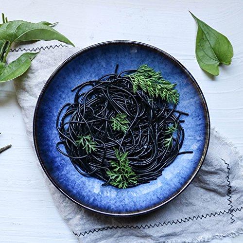 Regenbogen Schüssel Kreative Keramik Blau Geschirr Obstsalat Nudeln Spaghetti Suppe Große Schüssel, 9 Zoll