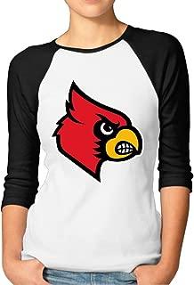 GUC Women's 3/4 Sleeve T-Shirt - University of Louisville Cardinals Black