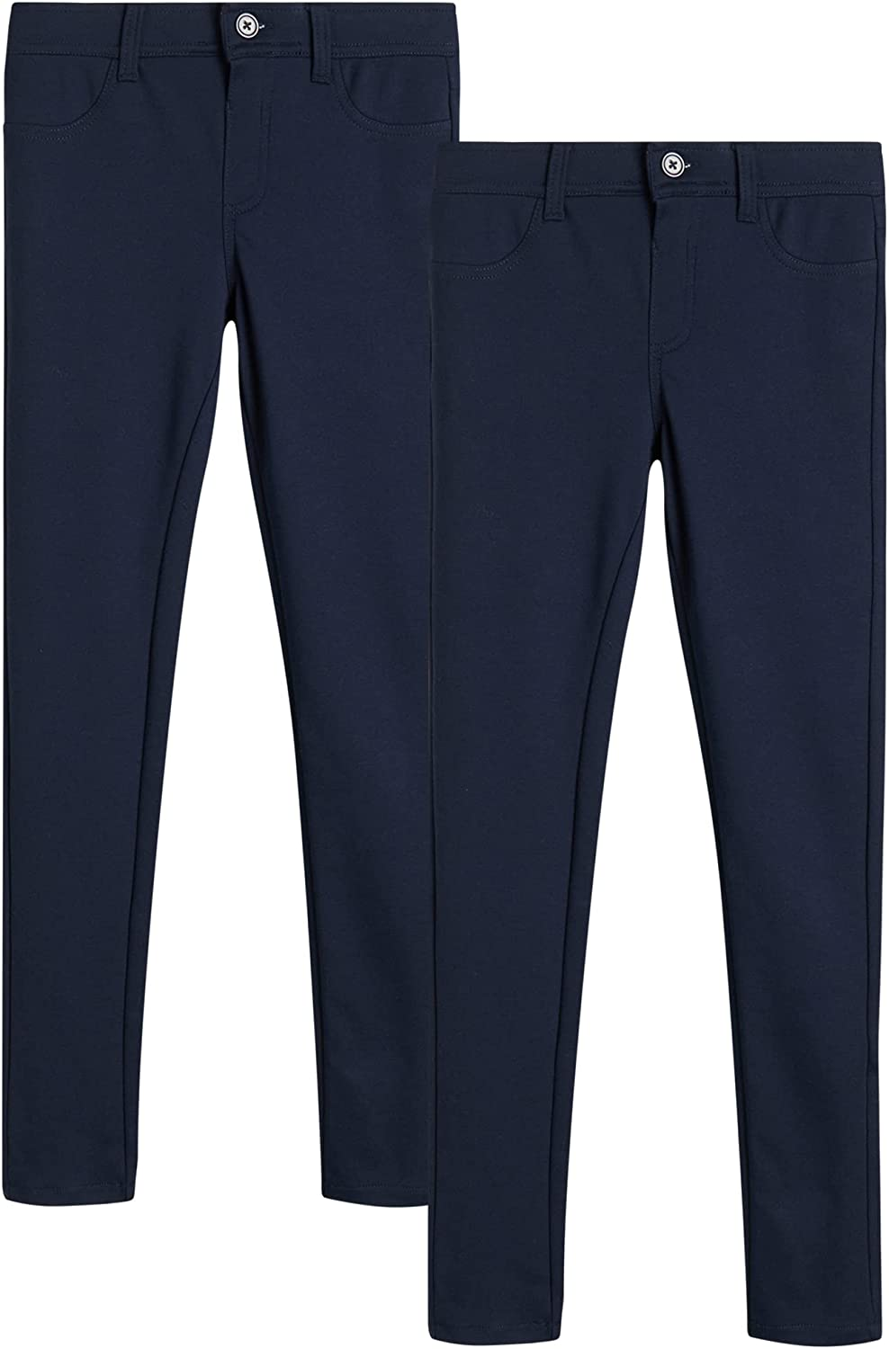 U.S. Polo Special sale item Assn. Girls' School Uniform Pack Ponte Now free shipping Pants 2 - Stret