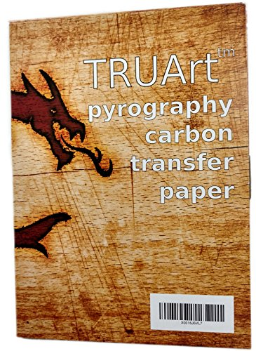 TRUArt Two Sided Carbon Transfer Blue Tracing Paper for Woodworking and Transferring or Mirroring Wood Burning Patterns - 100 Sheets (Blue)