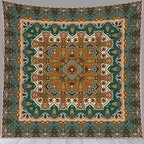 PPOU Mandala Indio Tapiz Colgante de Pared brujería Estilo Bohemio Fondo Decorativo Tela Manta Tela Colgante A5 150x200 cm
