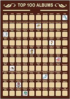 YEKKU Carteles de rascar, 100 Libros Póster de rascar 2020 Lista de Cubos de Eventos Principales Póster conmemorativo List...