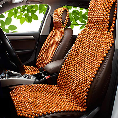 Dr.OX Car Seat Cushion Wooden Bead Front Seat Covers Natural Beaded Rear Seat Massage Wooden Chair Cushion 1PCS
